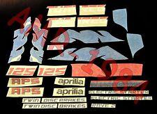 HOOD DECAL STICKERS TANK FAIRINGS APRILIA TUAREG 125 DEL 1987 BLU AP8111643
