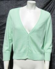 PURE COLLECTION 100% Cashmere Cardigan Sweater Top Mint Green US M 8 10