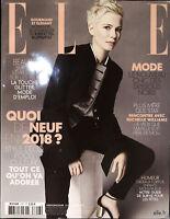 ELLE France 22 December 2017 MICHELLE WILLIAMS Marlene Kohrs ESTEE RAMMANT @New@