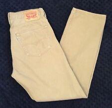 LEVIS 505 34x32 Jeans Regular Fit Straight Leg Extra Thigh Room Khaki Broken In!