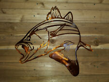 "STRIPER 18"" fish WALL ART. CNC PLASMA Metal DECOR hand made in waco texas"