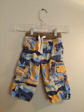 Baby Mini Boden Toddler Boys Orange Camo Techno Zipoff Cargo Pants 18 Months