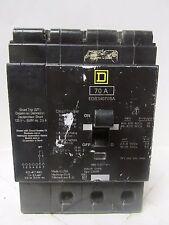 * Square D Edb34070Sa W/ Shunt Trip 70 Amp 3 Pole Circuit Breaker . Wi-174