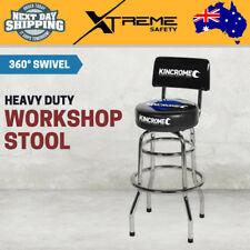 New Kincrome Pneumatic Garage Stool Mechanic Rolling Workshop High Chair - Black