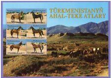 Turkmenistan 2001 Horse Breeds Sheet of 6