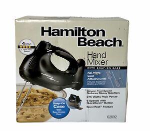 Hamilton Beach 6-Speed Electric Hand Mixer - Snap-On Case, Bowl Rest Damaged Box