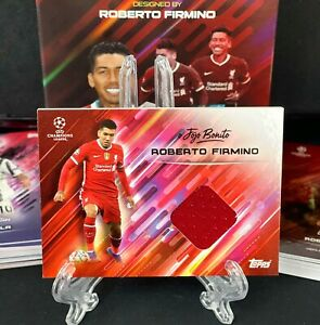 Topps O Jogo Bonito Curated Set - Roberto Firmino Shirt Patch Card