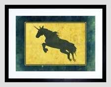 Unicorn Blue Art Posters