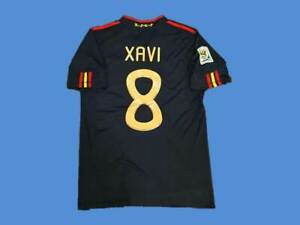 spain xavi world cup 2010 retro soccer jersey vintage classic football shirts