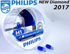 NEW Philips H1 Diamond Vision 5000K Car Headlight Bulbs H1 12V P14.5 +Blue W5W