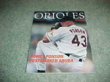 2000 Baltimore Orioles v New York Yankees Baseball Program Sidney Ponson Cover