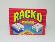RACK-O Card Game 1992 PARKER BROTHERS Open Box Complete Cards Racks Mint Retro