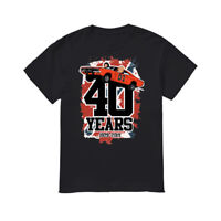 The Dukes Of Hazzard 40 Years 1979-2019 Black T-shirt S-3XL