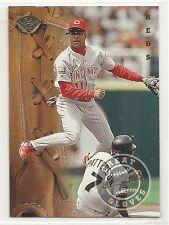 1995 Leaf Baseball - Great Gloves - #9 - Barry Larkin - Cincinnati Reds