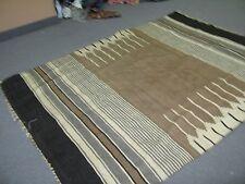 Turkish ? African Rug Hand Woven Wool / Mohair Rug Blanket 4'9 x 6'9 Natural Dye