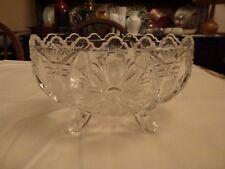 Vintage Decorative Footed Glass Bom-Bom Dish