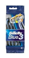 GILLETTE BLUE 3 DISPOSABLE PACK OF 8 RAZORS FOR BETTER COMFORTABLE SHAVE