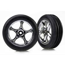 "Traxxas TRA2471R Chrome Tracer Wheels/Alias Tires (2) 2.2"" Front: Bandit VXL XL5"