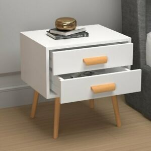 Modern Wood Solid Wood Legs Side Table With Drawers For Living Room Bed Room