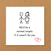 Funny card couple boyfriend husband wife birthday anniversary valentines love