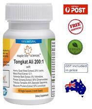 Tongkat Ali 200:1 Extract Blend 500mg - Men Health - AU Stock