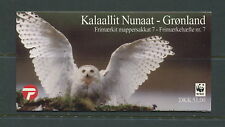 Greenland 1999 #347B owls birds WWF complete booklet  MNH  D910