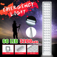 60 LED SMD Emergency Light Outdoor 3200mAh 2-Mode Rechargeable Camping Lamp