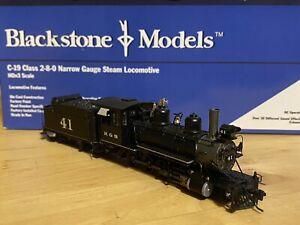 blackstone models C-19 2-8-0 rio grande southern no. 41 steam locomotive HOn3