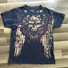 Affliction T Shirt Skull Cross Wings Men's Large Fedor Emelianenko Premium