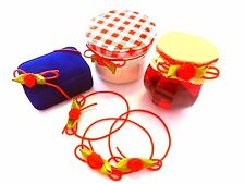nœud ziergummiband rouge / PETITES ROSES décoratifs en caoutchouc noeud 10St