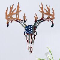 Animal Head Metal Wall Art Sculpture Deer Head Home Decorative Wall Hanging