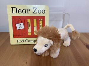 """Dear Zoo BOOK + Lion Soft Toy Plush 7"""" Rod Campbell"""