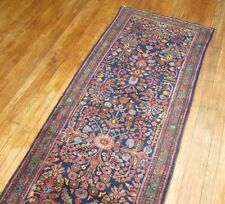Antique Persian Lilihan Malayer Hamedan Rug Runner Size 2'11''x17'2''