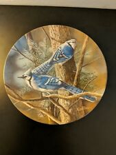 """The Blue Jay"" Knowles Plate. 1985 Encyclopedia Britannica Birds of Your Garden"