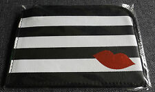 "SEPHORA Gift Card Pouch/Case (Black & White Striped) Zippered 5 1/2""x 4"" NEW"