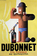 a m CASSANDRE famous dubonnet AD poster french VINTAGE 24X36 HOT NEW PRIZED