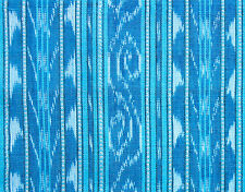 Hand-Dyed & Hand-Woven Cotton Ikat Blue Homespun Orissa India Fabric One Yard