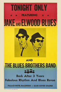 Classic Blues : The Blues Brothers Promotional  Concert Poster 1980  12x18