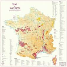 Map of France of Appellation d'Origine Wines and Spirits