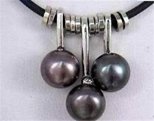 Wholesale 30PC 8-9mm AAA Beautiful Black Real Cultured Pearl Pendant Necklace