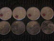 CANADA WAR OF 1812 RARE COMPLETE COMMEMORATIVE 25 CENT COINS
