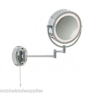 SEARCHLIGHT 11824 QUALITY CHROME ILLUMINATED BATHROOM MIRROR WALL BRACKET LIGHT.