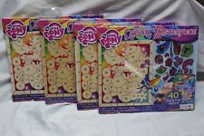 My Little Pony Crystal Masterpiece Wood + stickers Kit Party Pack SET OF 4