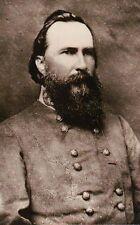 General James Longstreet Confederate Army Gettysburg Civil War Military Postcard