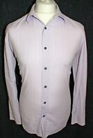 PAUL SMITH Two Fold Cotton Mens Blue Floral Long Sleeved Shirt Size Large