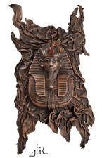 Tutankhamun Handmade in Egypt, Painted 3-D Leather Hanging Sculpture Wall Art