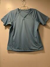 Champion Women Large Ocean Blue Athletic gym Exercise Breathable T-shirt - Large