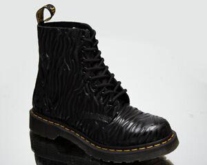 Dr. Martens 1460 Pascal Black Zebra Gloss Emboss Smooth Women's Boots Shoes