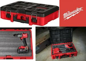Milwaukee 42-22-8450 PACKOUT Tool Case with Foam Customizable Insert New USA
