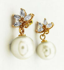 CHARTER CLUB Gold toned & Pearl  Earrings Msrp $27.50